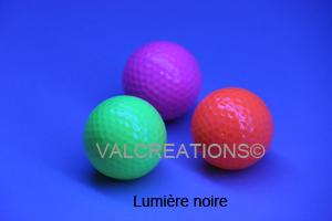 balle de Mini golf blacklight* fluo