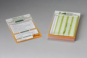 cartons de score pour jeu de Mini golf