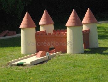 Château pour minigolf