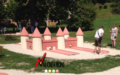 obstacle pour mini golf