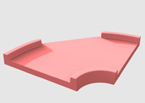 Element de piste de minigolf : Courbe ouverte