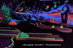 minigolf interieur blacklight