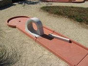 obstacle pour mini golf modulable : le looping