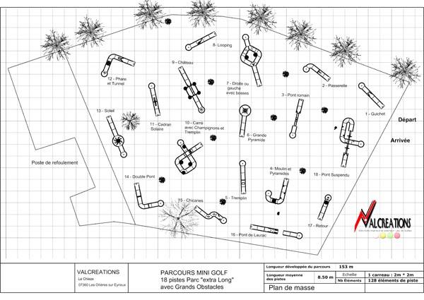 plan mini golf 2D